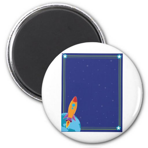 Space and Rocket Refrigerator Magnets