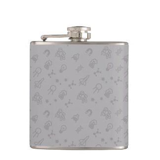 Space And Science Doodles Hip Flask