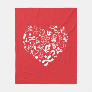 Space And Science Heart Fleece Blanket