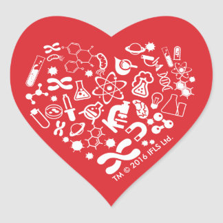 Space And Science Heart Heart Sticker