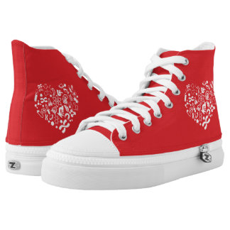 Space And Science Heart High Tops