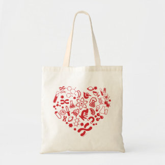 Space And Science Heart Tote Bag