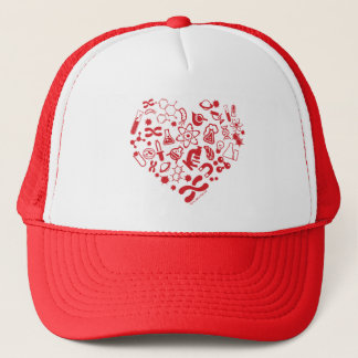 Space And Science Heart Trucker Hat