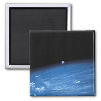 Space and the Earth Square Magnet