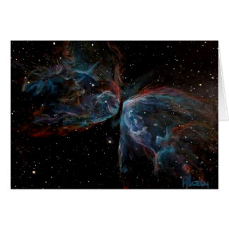 Space Art Butterfly Nebula Astronomical Painting Card
