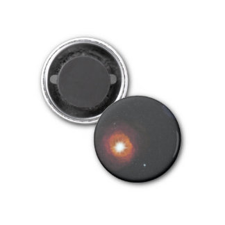 Space art design 3 cm round magnet