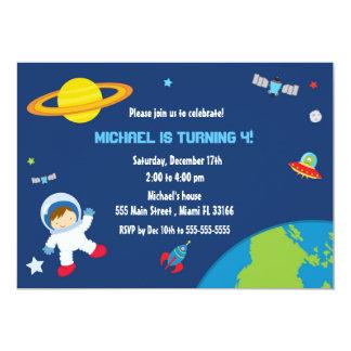 Space Astronaut Birthday Invitation