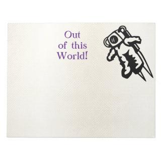 Space Astronaut Cosmonaut Encouragement Notepad