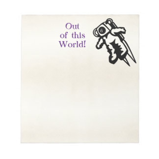 Space Astronaut Cosmonaut Encouragement Notepad