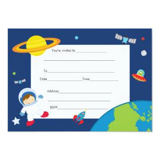 Space Astronaut Invitation Fill In