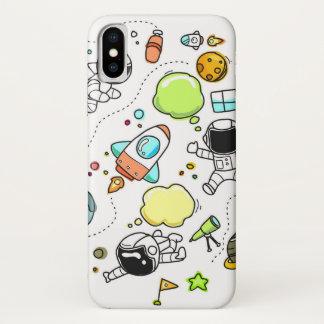 Space Astronaut Rocket Planet Design phone case