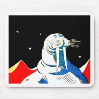 Space Astronaut Walrus Mouse Pad