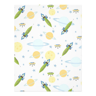 Space Baby Scrapbook Paper Dual-sided 21.5 Cm X 28 Cm Flyer