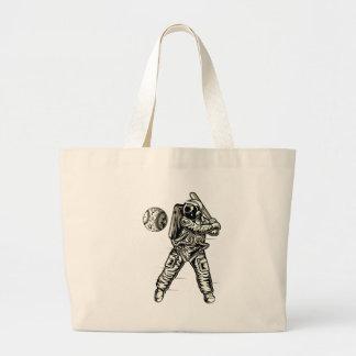 Space Baseball Large Tote Bag