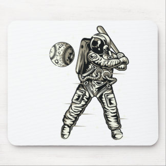 Space Baseball Mouse Pad
