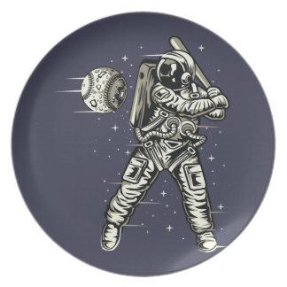 Space Baseball Plate