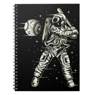 Space Baseball Spiral Notebook