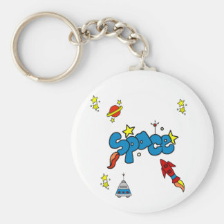 SPACE BASIC ROUND BUTTON KEY RING