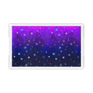 Space beautiful galaxy night starry  image acrylic tray