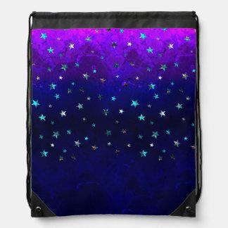 Space beautiful galaxy night starry  image drawstring bag