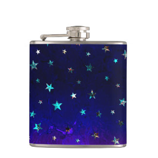 Space beautiful galaxy night starry  image hip flask