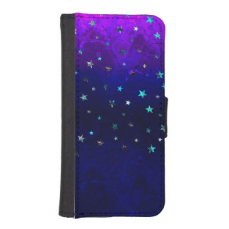 Space beautiful galaxy night starry  image iPhone SE/5/5s wallet case