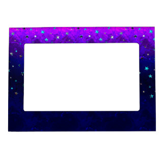Space beautiful galaxy night starry  image magnetic picture frame