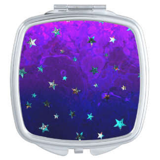 Space beautiful galaxy night starry  image makeup mirror
