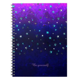 Space beautiful galaxy night starry  image notebook