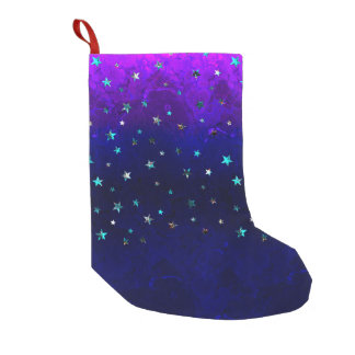 Space beautiful galaxy night starry  image small christmas stocking