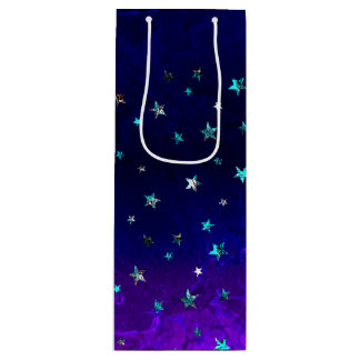 Space beautiful galaxy night starry  image wine gift bag