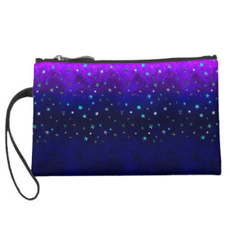 Space beautiful galaxy night starry  image wristlet clutches