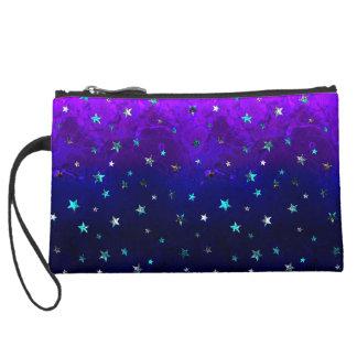 Space beautiful galaxy night starry  image wristlet purse