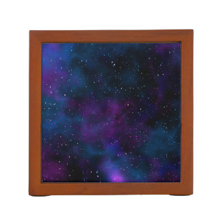 Space beautiful galaxy starry night image desk organiser