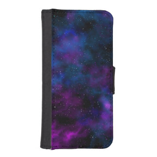 Space beautiful galaxy starry night image iPhone SE/5/5s wallet case