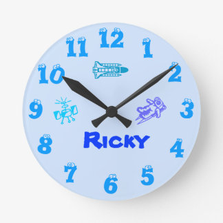 Space blue Wall Clock