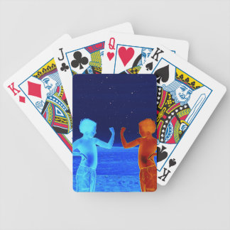 Space boys bicycle playing cards