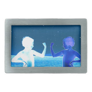 Space boys rectangular belt buckle