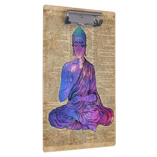 Space Buddha Dictionary Art Clipboard