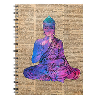 Space Buddha Dictionary Art Notebooks