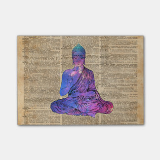 Space Buddha Dictionary Art Post-it Notes