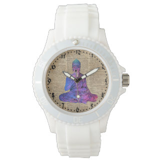 Space Buddha Dictionary Art Watches