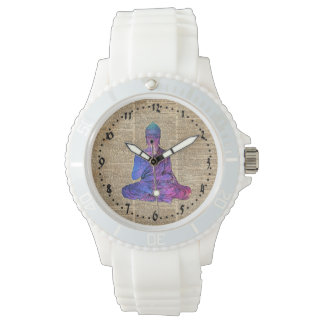 Space Buddha Dictionary Art Wrist Watches