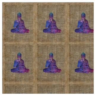 Space Buddha Vintage Dictionary Art Fabric