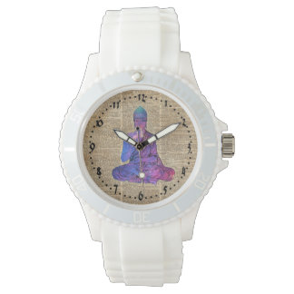 Space Buddha Vintage Dictionary Art Watch