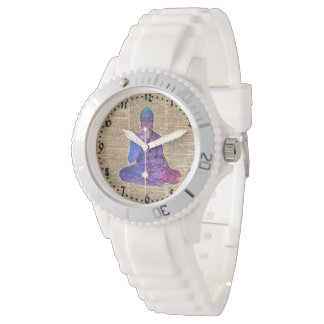 Space Buddha Vintage Dictionary Art Wrist Watches