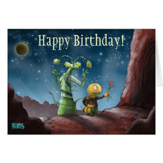 Space Bugs Adventure Birthday Card