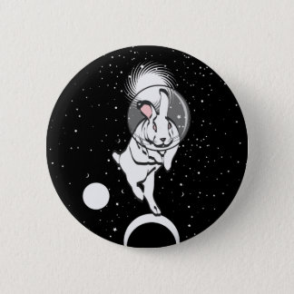 SPACE BUN 6 CM ROUND BADGE