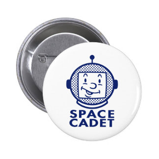 SPACE CADET - Blue 6 Cm Round Badge