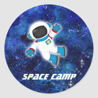 Space Camp Astronaut Blue Sticker